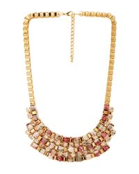 Forever 21 - Metallic Glitzy Floral Bib Necklace - Lyst