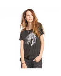 Denim & Supply Ralph Lauren | Gray Draped Cotton Graphic Tee | Lyst