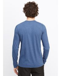 Vince - Blue Favorite Jersey Long Sleeve Henley for Men - Lyst