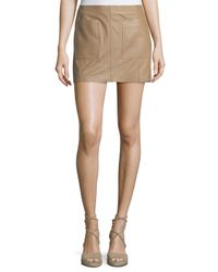Joie | Natural Nephrite Soft Leather Skirt | Lyst