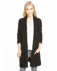 Chelsea28 Nordstrom - Black Textured Cardigan - Lyst