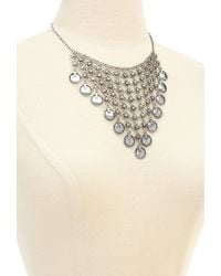 Forever 21 - Metallic Mesh Chain & Coin Bib Necklace - Lyst
