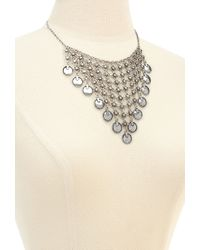 Forever 21 | Metallic Mesh Chain & Coin Bib Necklace | Lyst