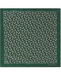 Ferragamo | Green Horse-Print Pocket Square - For Men for Men | Lyst