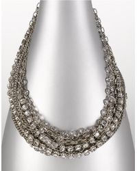 ABS By Allen Schwartz | White 17-row Nested Necklace | Lyst