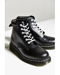 Dr. Martens - Black Padded Collar 6-eye Boot - Lyst