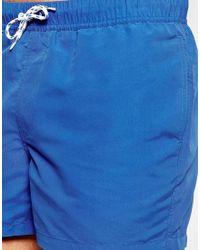 ASOS - Blue Swim Shorts In Short Length for Men - Lyst