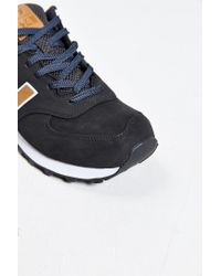 New Balance | Brown 574 Lux Running Sneaker for Men | Lyst