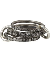Spinelli Kilcollin - Black & Grey Diamond Nova Gris Pavé Ring - Lyst