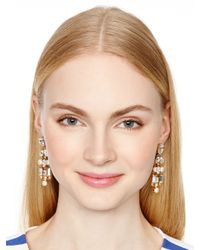 kate spade new york - Natural Twinkling Fete Chandelier Earrings - Lyst