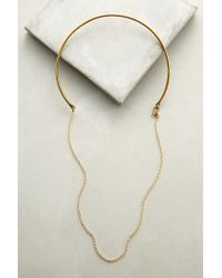 Anthropologie - Metallic Draped Collar Necklace - Lyst