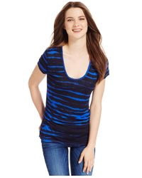 Calvin Klein Jeans | Blue Short-sleeve Striped T-shirt | Lyst