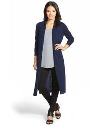 Nordstrom Collection - Blue Open Front Cashmere Duster Cardigan - Lyst