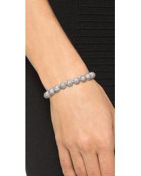 Eddie Borgo - Metallic Pave Medium Dome Bracelet - Silver - Lyst
