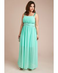 Forever 21 - Green Beaded Maxi Dress - Lyst