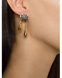 Rodarte   Metallic Flower Pendant Earrings   Lyst