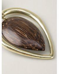 Vaubel | Brown Wood Drop Leaf Earrings | Lyst