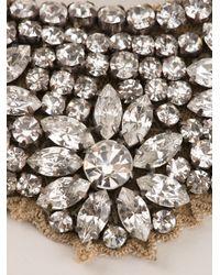Valentino - Metallic Crystal Flower Necklace - Lyst