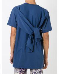 Comme des Garçons - Blue Tied Detail T-shirt for Men - Lyst