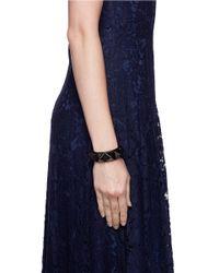 Valentino | Black 'rockstud'' Macro Leather Bracelet | Lyst