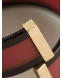 Emporio Armani - Red Slip On Bracelet - Lyst