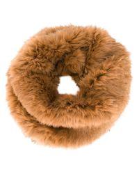 Yves Salomon - Natural Rabbit Fur Scarf - Lyst