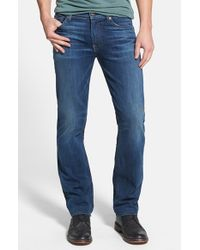 7 For All Mankind | Blue 'slimmy - Luxe Performance' Slim Straight Leg Jeans for Men | Lyst