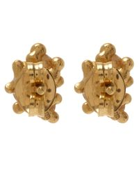 Ruth Tomlinson | Metallic Yellow Gold White Diamond Granule Stud Earrings | Lyst