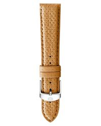 Michele - Brown 18mm Leather Watch Strap - Tan - Lyst