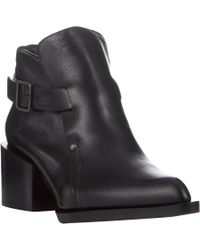 Jil Sander - Black Extended-Sole Ankle Boots - Lyst