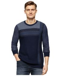 Calvin Klein Jeans | Blue Vertical Ombre Sweater for Men | Lyst