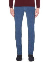 Slowear | Blue Slim-fit Tapered Corduroy Trousers for Men | Lyst