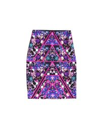 Nicole Miller | Multicolor Carter Terraform Skirt | Lyst