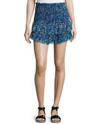 Étoile Isabel Marant - Multicolor Serek Ruffled Silk Mini Skirt - Lyst
