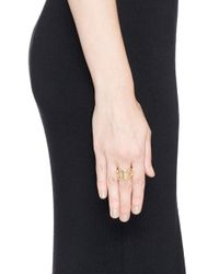 Philippe Audibert - Metallic Cutout Chain Link Ring - Lyst