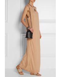 By Malene Birger - Pink Tivoda Paneled Jersey And Silk Maxi Dress - Lyst