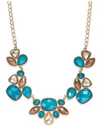 Style & Co. | Blue Gold-tone Teal Bold Stone Necklace | Lyst