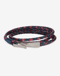 Ted Baker - Blue Leather Hook Bracelet for Men - Lyst