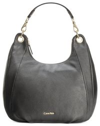 Calvin Klein | Black Pebble Hobo | Lyst