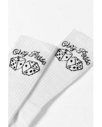 Obey - White Shake 'em Up Sock for Men - Lyst