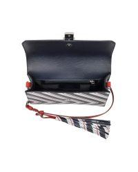 Pinko - Triathlon Multicolor Striped Leather Shoulder Bag - Lyst