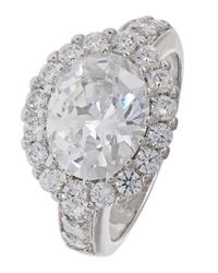 Michela - Metallic Rhinestone And Pave Accented Ring - Lyst