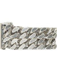 Diesel Black Gold | Metallic Black And Silver Beatoty Bracelet for Men | Lyst