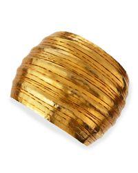 Herve Van Der Straeten | Metallic Salome Gold Collar Cuff | Lyst