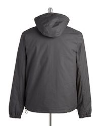 Original Penguin - Gray Striped Jacket for Men - Lyst
