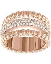 Swarovski | Pink Click Ring | Lyst