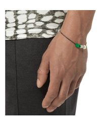 Lanvin - Metallic Bolt And Bead Two-Tone Metal Bracelet for Men - Lyst