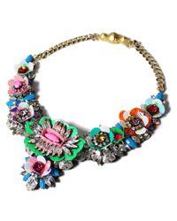 Shourouk | Multicolor Apolonia Flower Necklace | Lyst