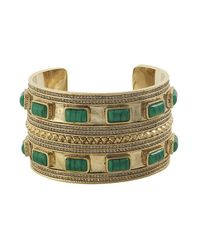House of Harlow 1960 - Green Ananta Statement Cuff - Lyst
