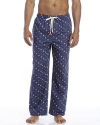 Original Penguin - Blue Logo Print Lounge Pants for Men - Lyst